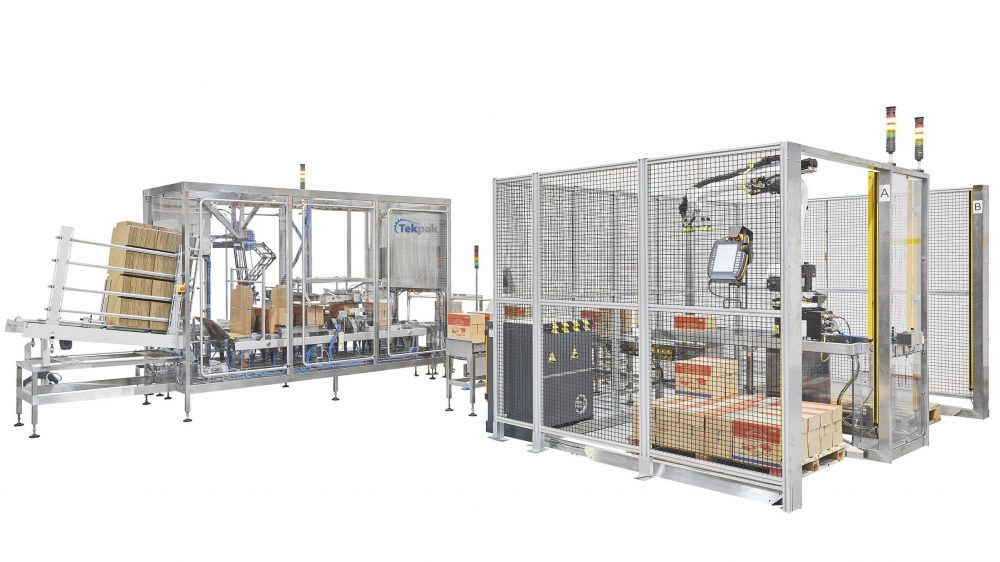 End Of Line Packaging Case Palletising Cell