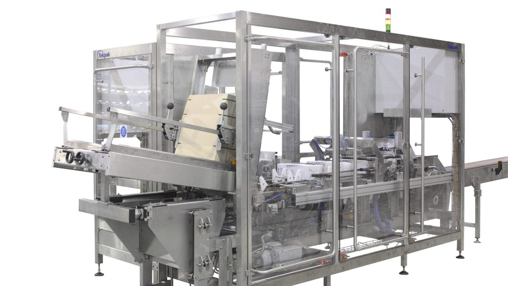 Tray Loader with Integrated Case Erector and Case Closer